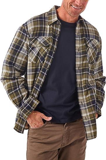Wrangler Authentics メンズ 長袖シャツ シェルパ裏地 シャツジャケット