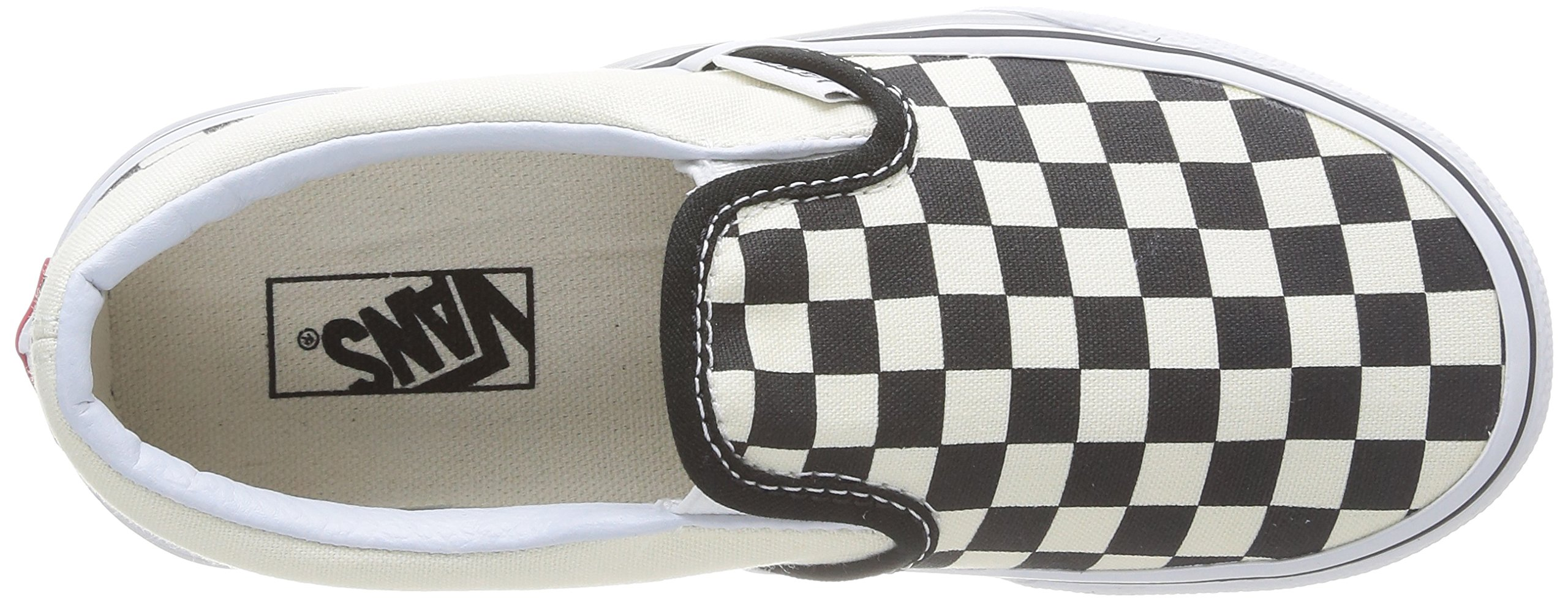 Vans Kids Classic Slip-On (Little Big Kid), ((Checkerboard) Black/White, 13 M by Vans (Image #8)