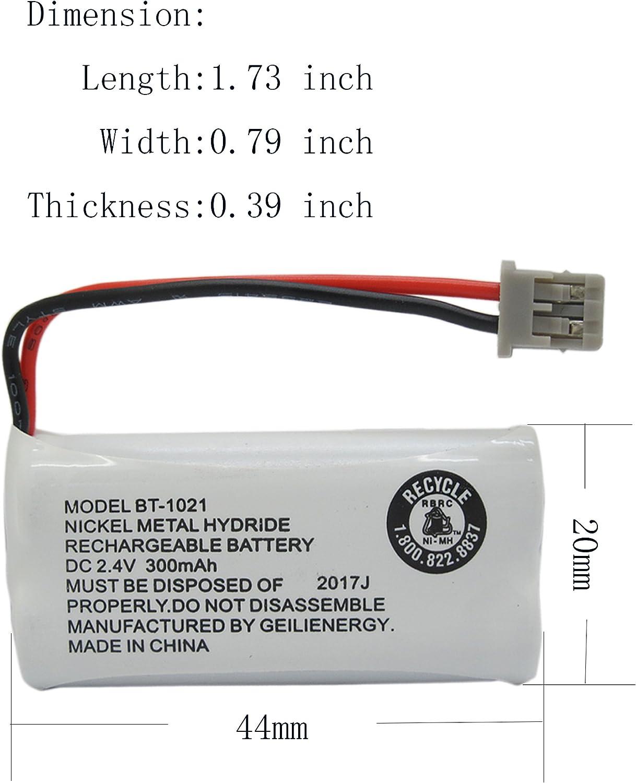 Pack of 3 Rechargeable Cordless Phone Telephone Batteries for Uniden BT-1025 BT1008 BT-1008 BT1016 BT-1016 BT1021 BT-1021 WITH43-269 WX12077 Sanyo CAS-D6325 CASD6325 GEILIENERGY