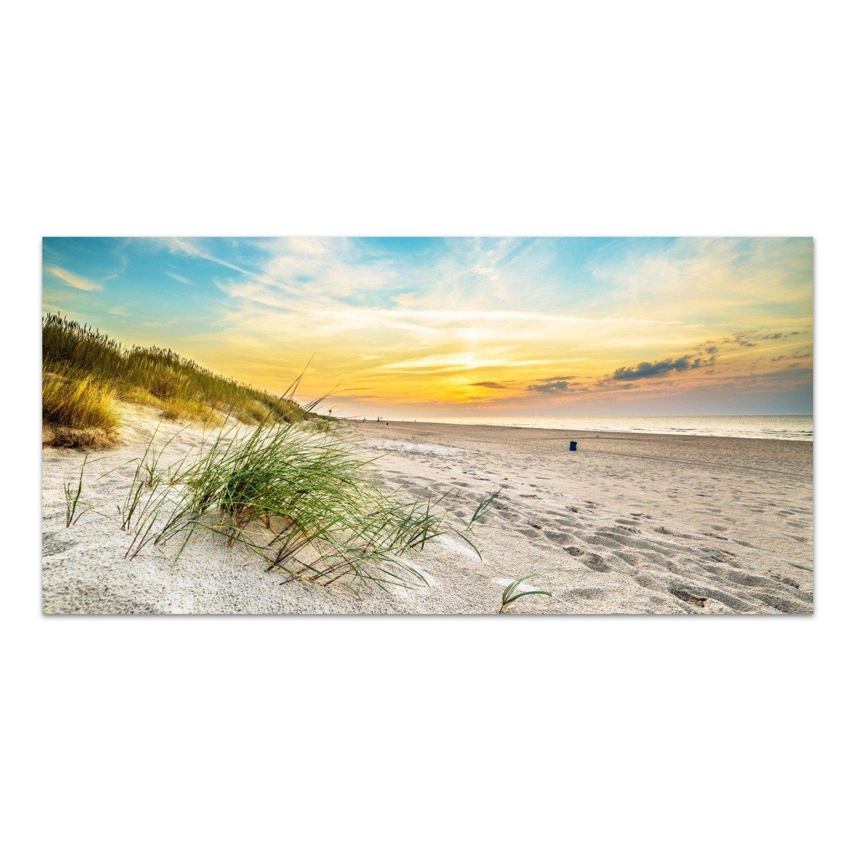 DekoGlas Glasbild 'Strand in Nordpolen' Acrylglas Bild Küche, Wandbild Flur Bilder Wohnzimmer Wanddeko, einteilig 100x50 cm