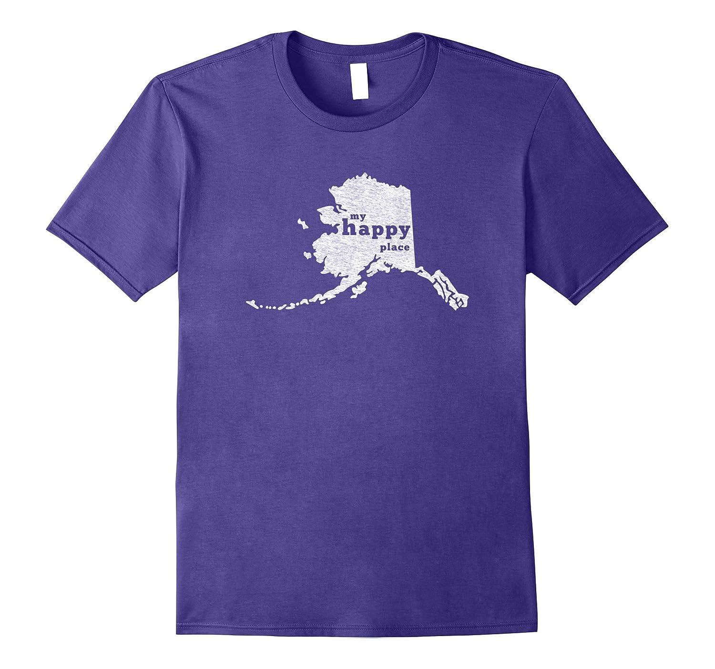 Alaska T-Shirt Distressed Happy Place Tee-CL
