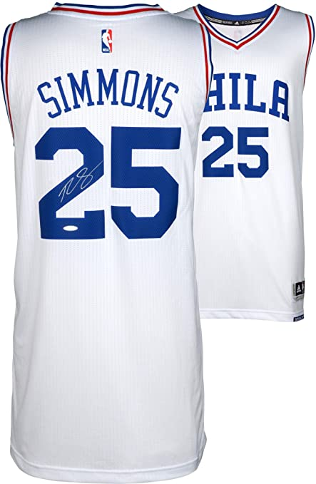 2efdac0e499 Ben Simmons Philadelphia 76ers Autographed Home Jersey - Upper Deck -  Fanatics Authentic Certified - Autographed