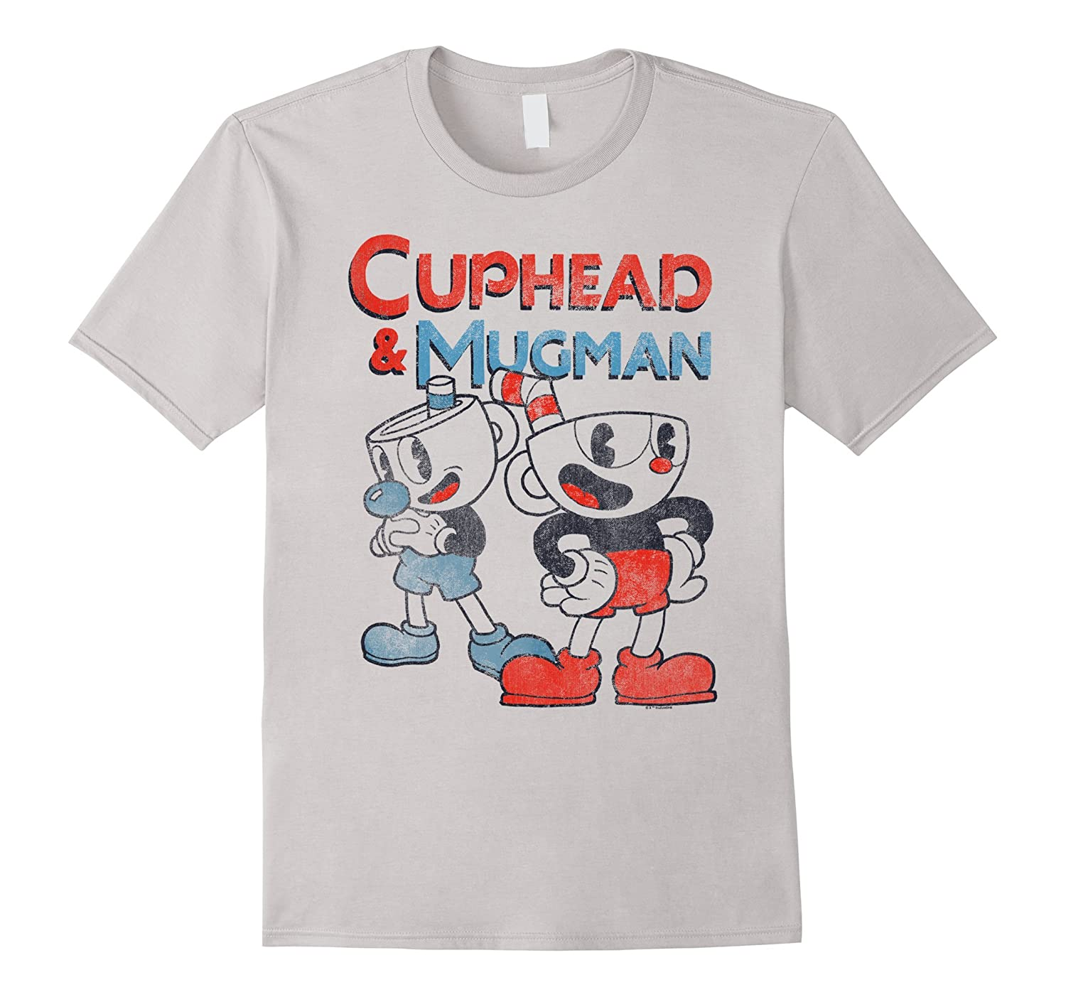 Cuphead Dynamic Vintage Graphic T Shirt-Awarplus