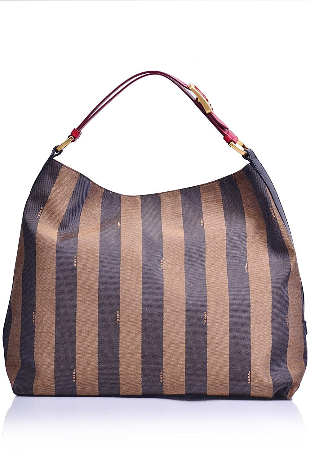 1f0d095f3e84 Amazon.com  Fendi Handbag Tobacco and Red Leather Pequin Stripe Hobo  Shoulder Bag 8BR653  Shoes