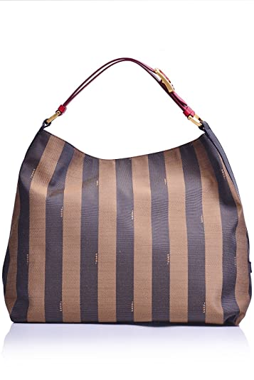Fendi Striped Hobo Bag