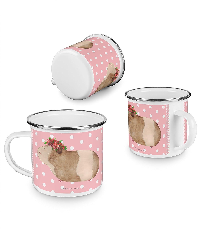 Panda Kaffeebecher Mr Camping Emaille Tasse Koalab/är Farbe Grau Pastell /& Mrs bruchsicher