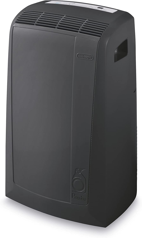 DeLonghi PACN135EC 3-in-1 Portable Air Conditioner, Dehumidifier Fan Remote Control Wheels, 550 sq. ft, Large Room, Dark Gray