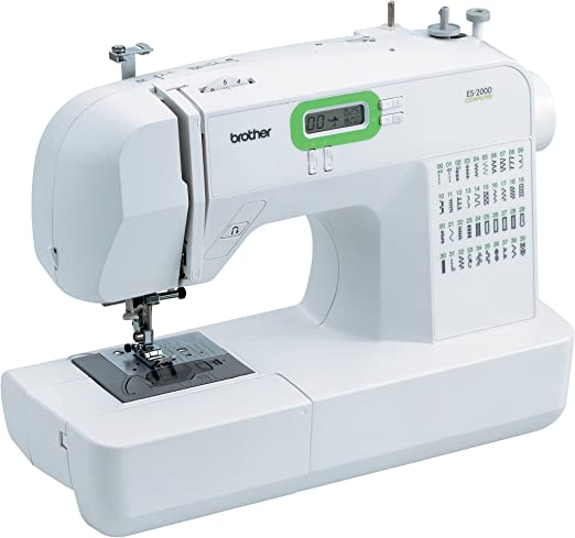 Brother ES2000 - Máquina de coser (Verde, Blanco, 170 mm, 409 mm ...
