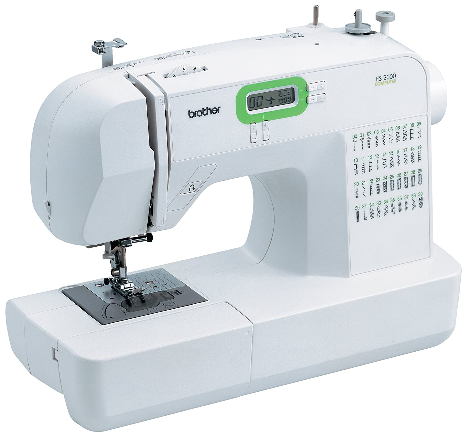 Amazon.com: Brother ES2000 77 Stitch Function Computerized Free Arm Sewing  Machine