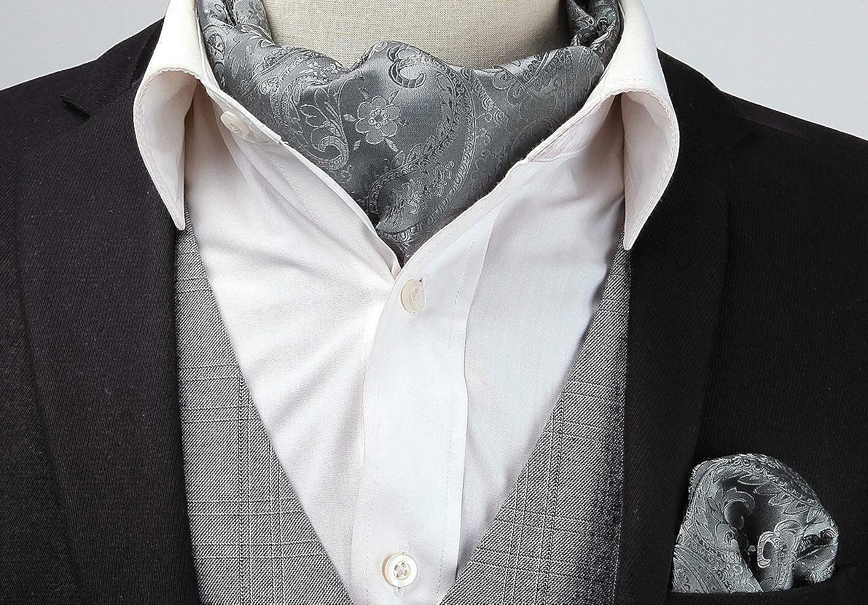 HISDERN Conjunto floral de tela tejida jacquard para hombre
