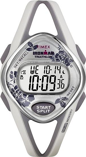 Timex Ironman Sleek 50 Lap - Reloj de mujer de cuarzo, correa de goma color