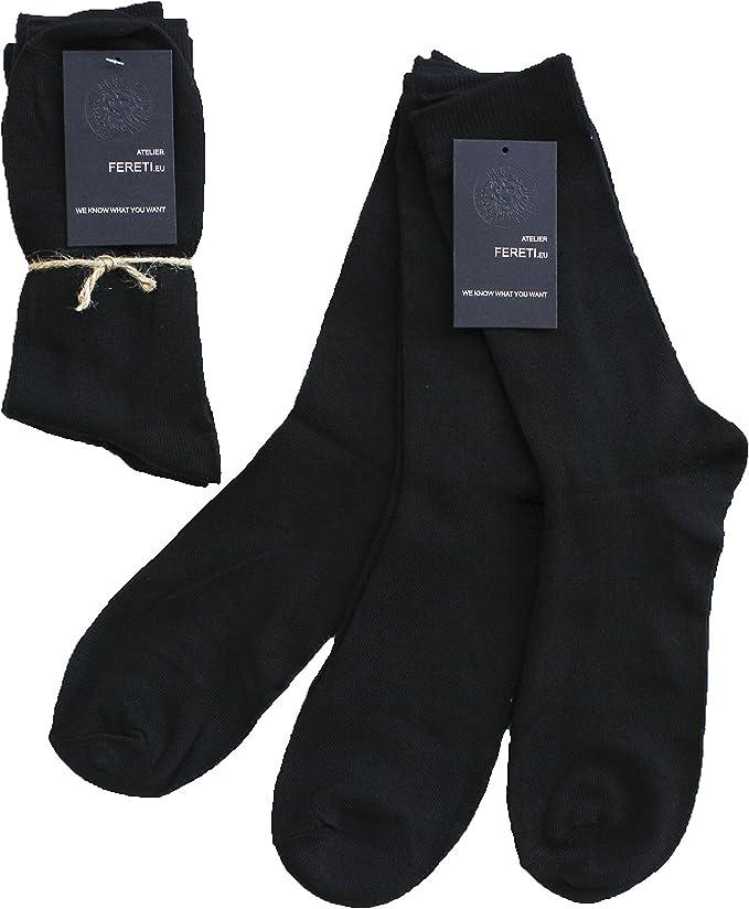 FERETI Calcetines Negros Para Mujer Y Caballero Calidad Hombre ...