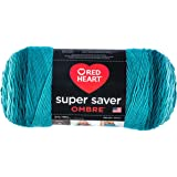Red Heart Super Saver Ombre Yarn, 10 oz, Deep Teal