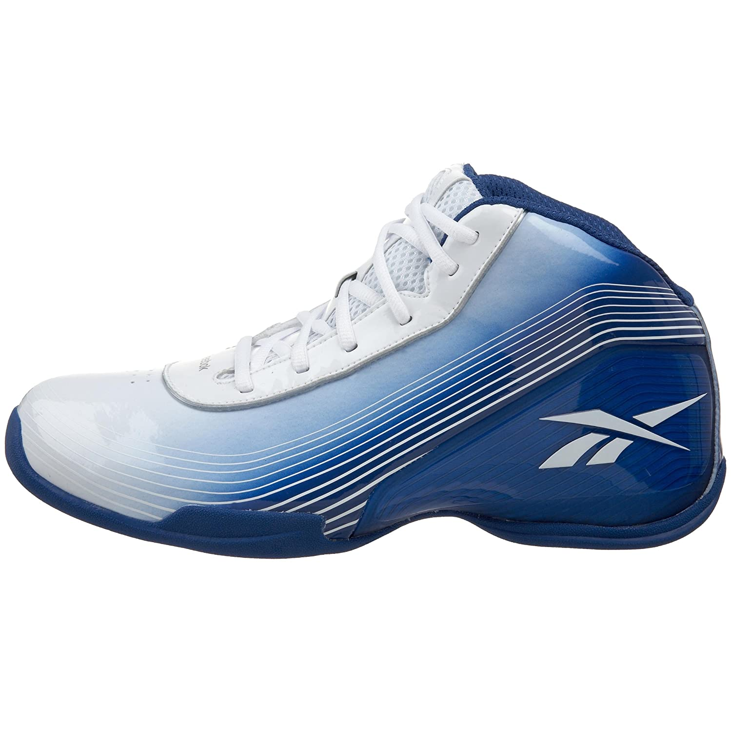 Amazon.com | Reebok Mens Deep Range II Basketball Shoe, Team Royal/White, 7 M | Basketball