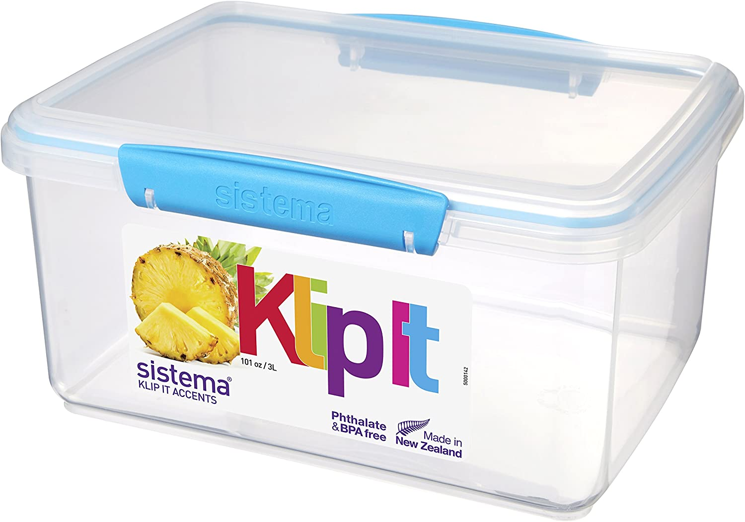 Sistema KLIP IT Accents Food Storage Container, 3 L - Assorted Colours
