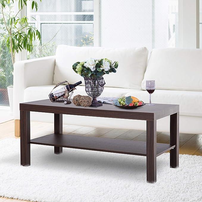 Tavolino Esagonale in Metallo con ripiano in Legno 43 x 38 x 50 cm KONTARBOOR