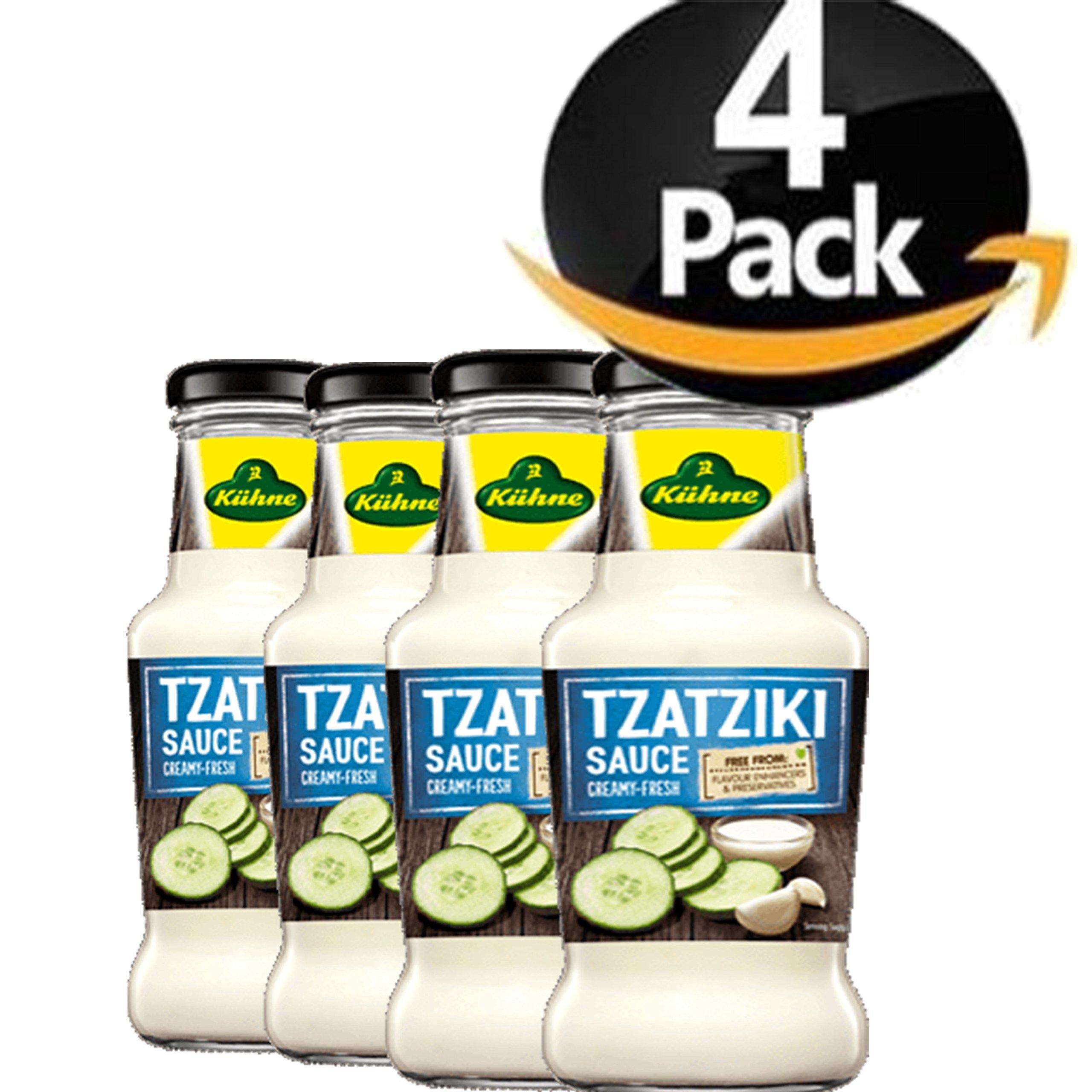 Kuhne Tzaziki Sauce BUNDLE 4 Bottles 8.45oz 250ml Each