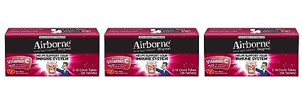Airborne explosión de vitamina C – comprimidos masticables de 116 – Berry o cítricos con sabor
