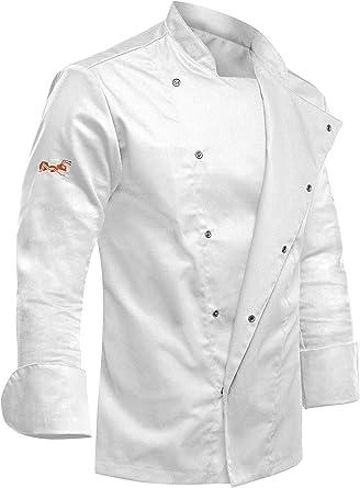 Strongant Veste De Cuisine Chef Blanc Homme Professionnel