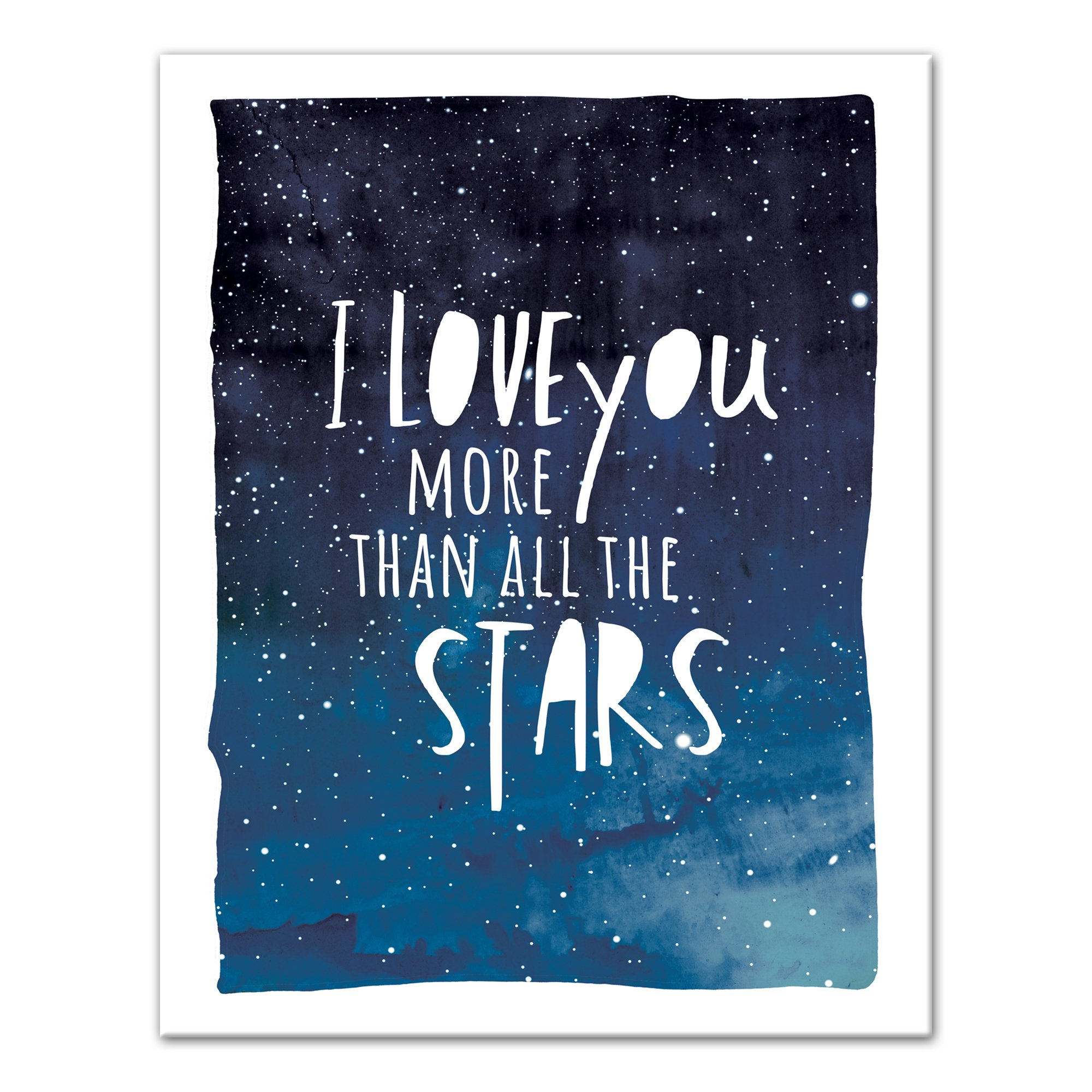 I Love You More Than All The Stars 11x14 Canvas Wall Art