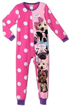 ae04cebdc5 Amazon.com  Komar Kids Big Girls Pugs and Kisses Onesie Pajamas ...