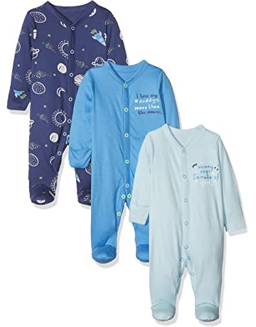 47f690bc49f Mothercare Baby Boys Mummy   Daddy 3 Packed Sleepsuit