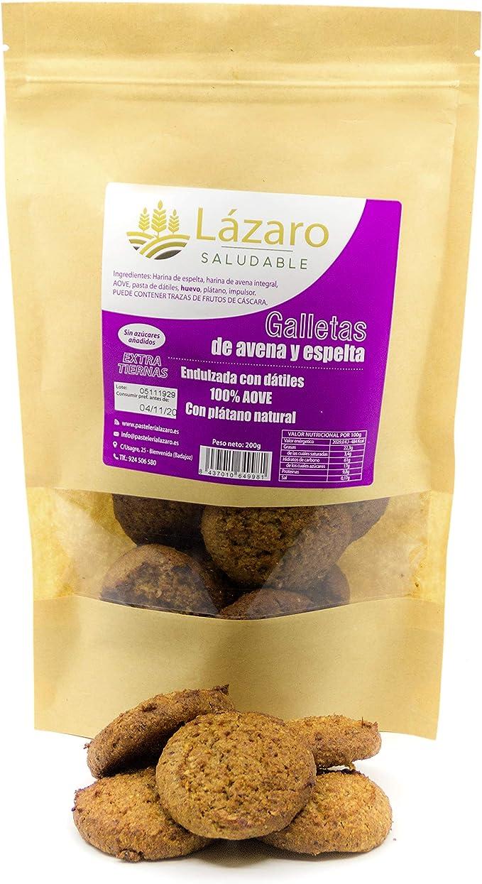 Lázaro Galleta de Avena y Espelta, 200 g, Pack de 1: Amazon.es: Alimentación y bebidas