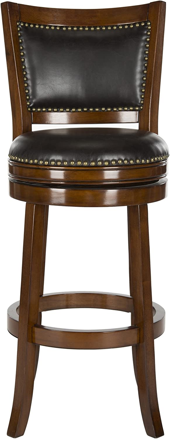 Safavieh Home Collection Lazzaro Walnut 29-inch Bar Stool