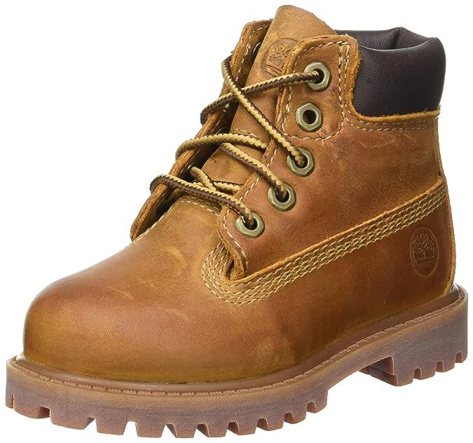 Timberland Authentics FTK 6 In WP Boot 80904, Unisex-Kinder Stiefel, Braun (Medium Brown Rust), EU 39 (US 6)