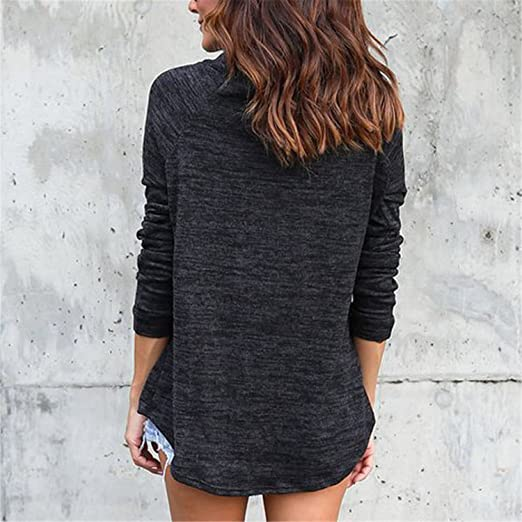 Henraly Women Hoodies Long Sleeve Round Neck Hoodies Sweatshirt European Style Apparel Pullover Sudaderas Mujer at Amazon Womens Clothing store: