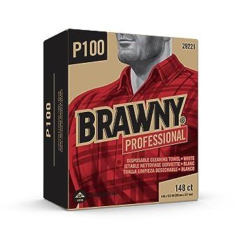 Brawny Industrial luz blanca deber 2 capas de papel Limpiaparabrisas ...