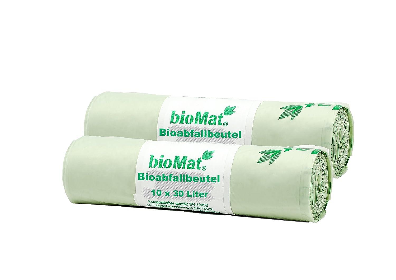 120 Lt. BIOMAT® kompostierbare Abfallsäcke (3 x 10 10 10 Stk. Müllsäcke) B073VMWWY5 Müllbeutel & -scke 19bd8c