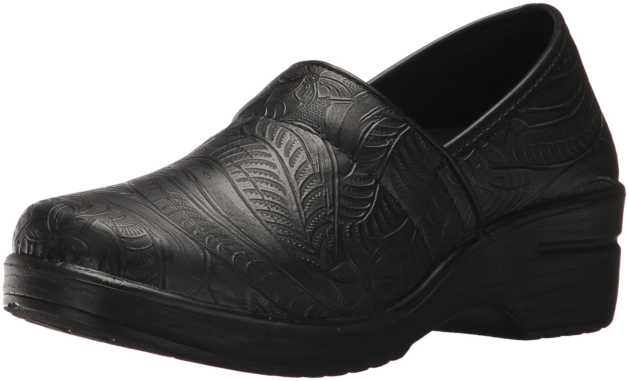 Easy Works Women's Lyndee Health Care Professional Shoe, Black Emboss, 9 W US