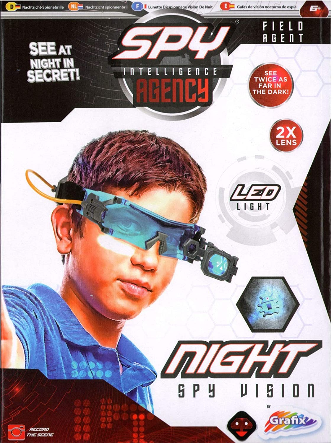 RMS Spy Intelligence Agency Night Vision Goggles Kids LED Torch Glasses Gadget Toy