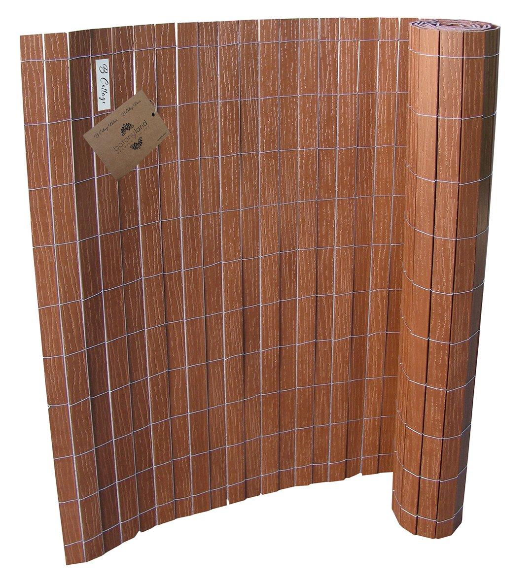 WPC Zaun Sichtschutzmatte Sichtschutzzaun 1x2 50 m langer Farbe