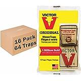 Victor 4 Pack Metal Pedal Mouse Trap bundle (64 Total Traps) M156