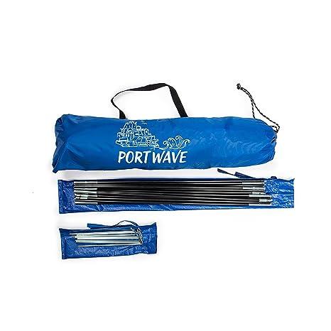 Portwave pw-2659 Abrigo de Playa Unisex, Azul: Amazon.es: Deportes y aire libre