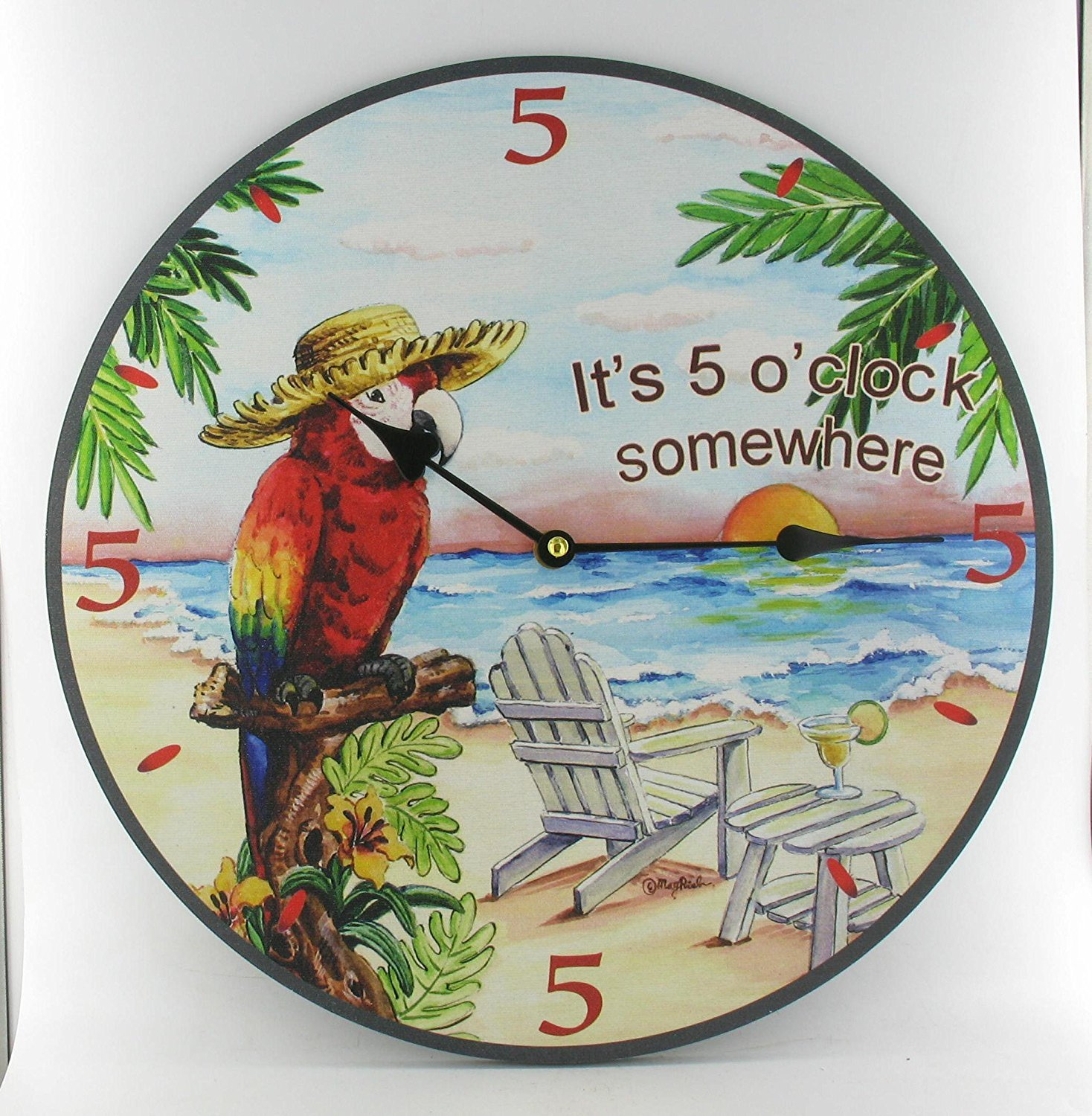 Amazon macaw parrot wall clock tropical theme design home amazon macaw parrot wall clock tropical theme design home kitchen amipublicfo Gallery