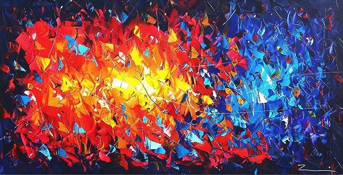 painting modern art zenic unique xxl color explosion amazon co uk