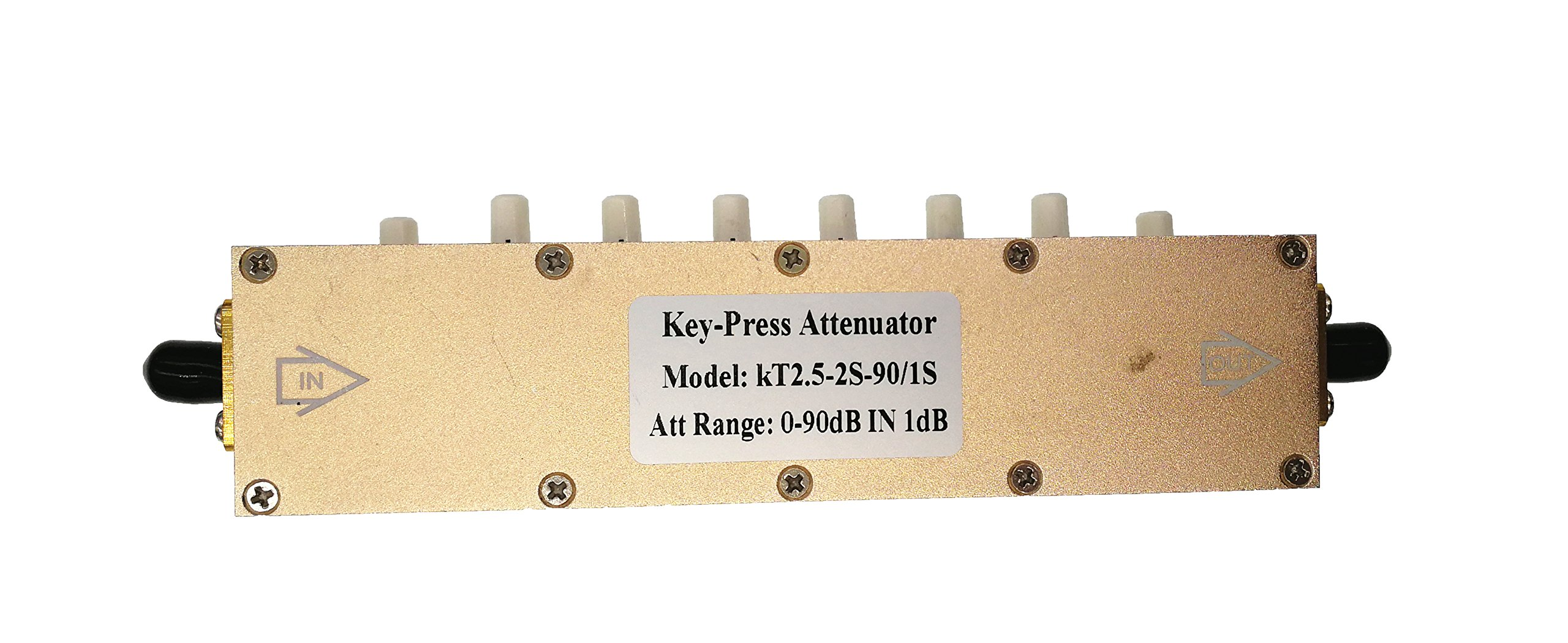 5W SMA Coaxial RF Stepping Adjustable Key-Press Attenuator DC-2.5GHz 0-90dB KT2.5-90