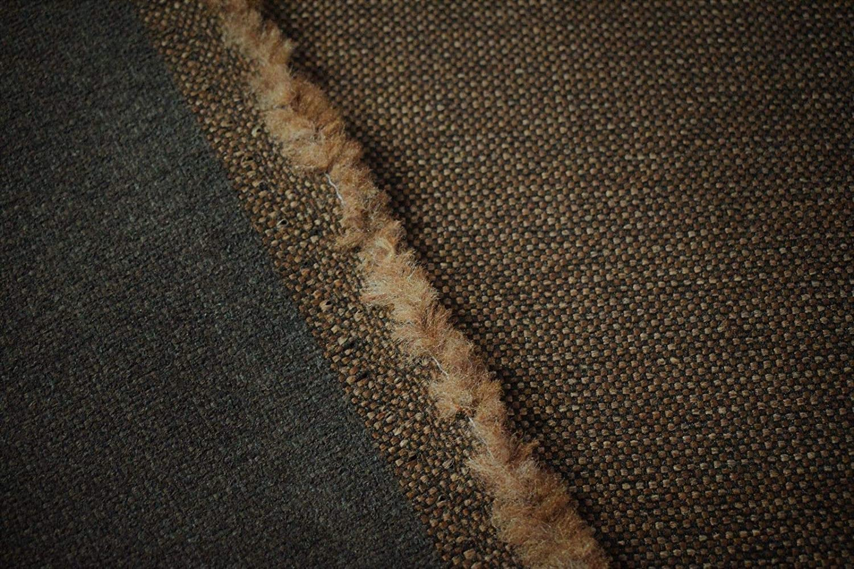 "Beige Tan Canvas Tweed Fabric 55/""W Seat Upholstery Church Pew Auto U-5"