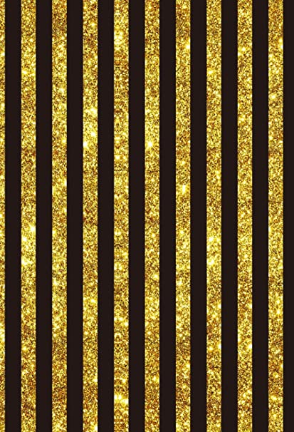 Yeele 3x5ft Golden And Black Stripe Photography Backdrop Birthday Wedding Party Banner Background Newborn Baby Shower Boy Portrait Photo Booth Video