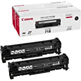 Canon CA718BKVP 718 Black - Toner cartridge - 2 x black - 3400 pages 2662B005