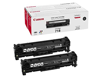 Canon cartucho 718 twinpack de tóner original BK para impresoras láser i-SENSYS LBP7200Cdn,7210Cdn,7660Cdn,7680Cx, ...