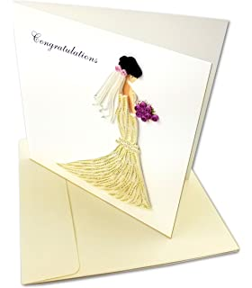 Amazon durango colorado wishing you happy trails holiday lovely bride congratulations quilling greeting card 6x6 with envelope blank inside hand m4hsunfo