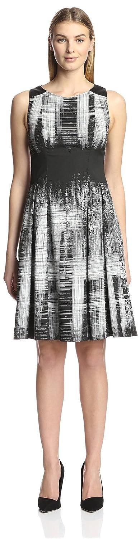 Amazon.com: Yoana Baraschi Womens Tara Fit and Flare Dress, Moon/Black, 4 US: Clothing