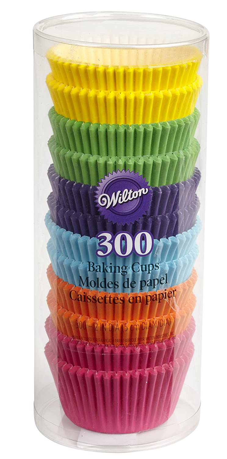 Wilton Bright Standard Cupcake Liners, 300-Count