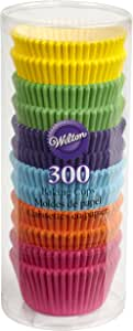 Wilton Rainbow Bright Standard Cupcake Liners, 300-Count