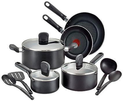 T-fal a688sc suave lados antiadherente Thermo-Spot lavavajillas Horno y utensilios de cocina