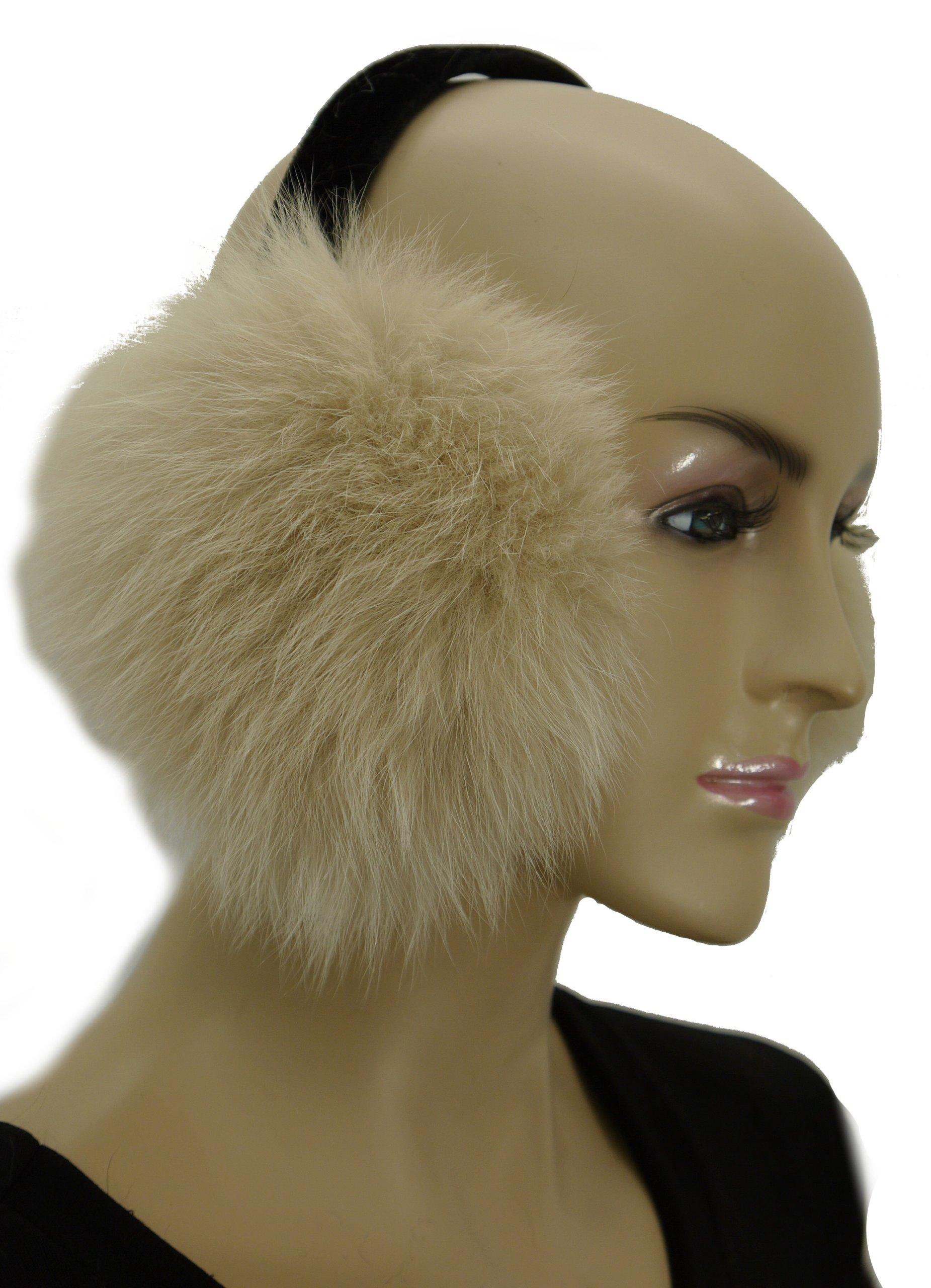 Fox Fur Earmuff - Snow Top